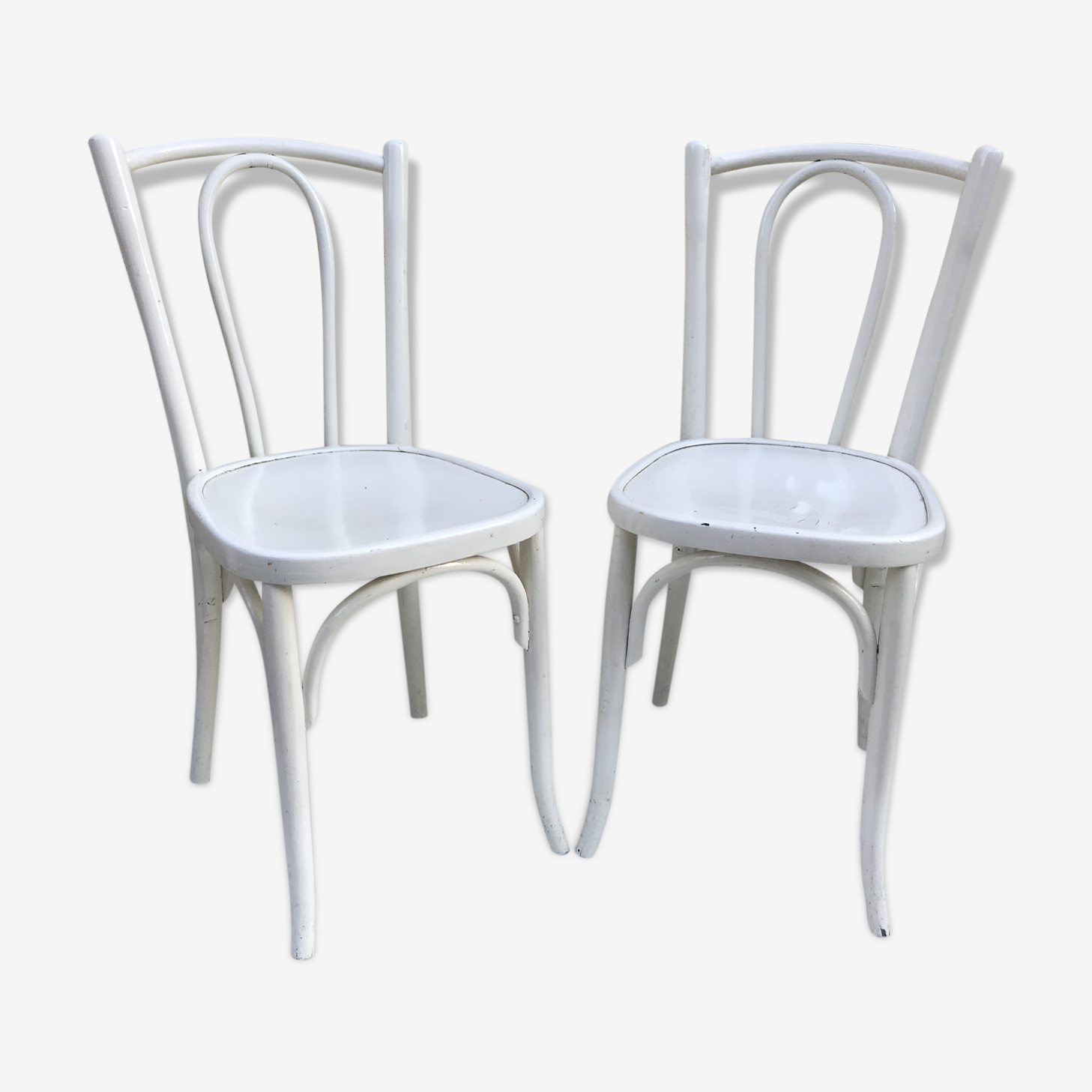 Pair of chairs old Bistro