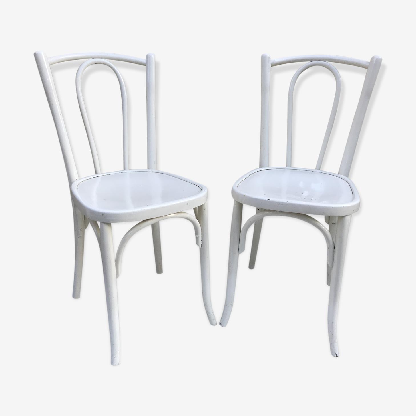 Paire de chaises anciennes bistrot