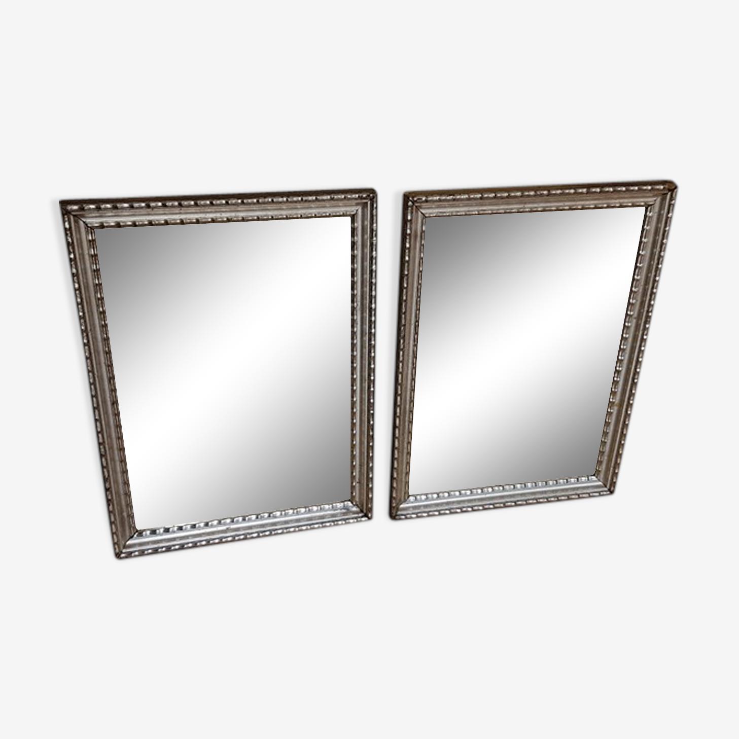 Paire de miroir argent 63x47cm