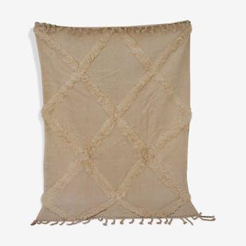 Tapis kilim béni ouarain blanc 143x210cm