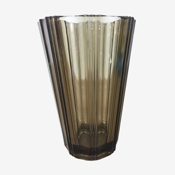 Glass vase of arques 70s