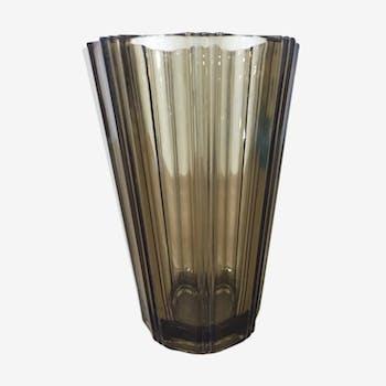 Vase verrerie d'arques années 70