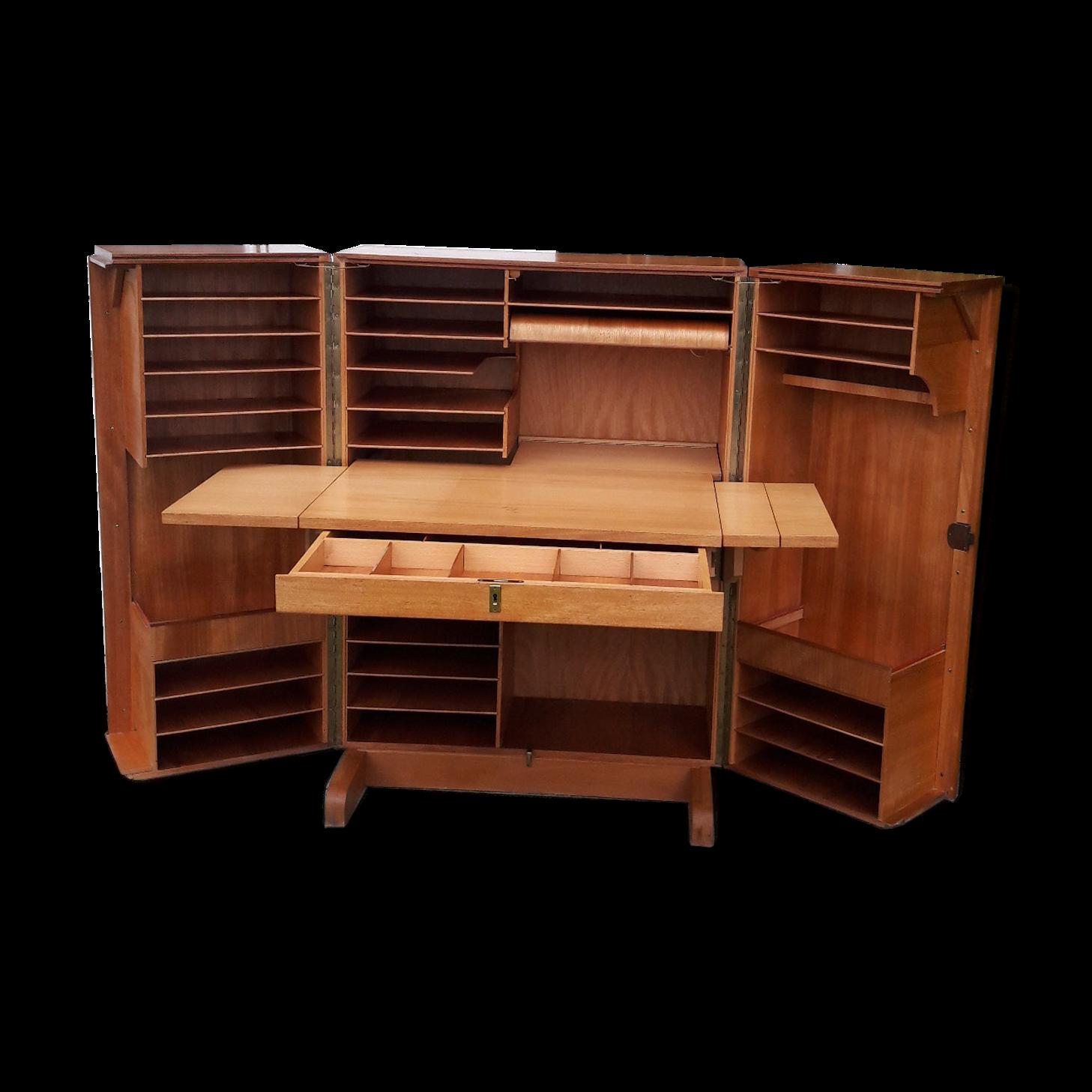Meuble Bureau En Bois Good Bureau Malle Magic Box Et Chaise Elf  # Les Meilleurs Classeur Angle En Bois