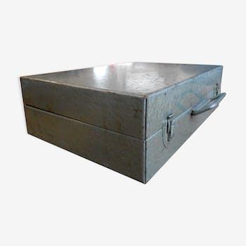 coffre malle caisse de rangement style industriel 3 2 1 chinez. Black Bedroom Furniture Sets. Home Design Ideas