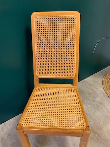 Paire de chaises cannées 80's