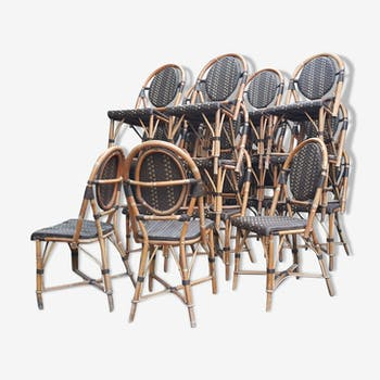 Set of 19 terrace chairs
