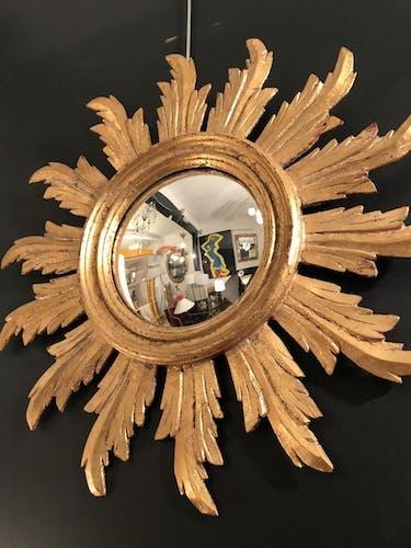 Mirror sun witch wood gilded ice bulging 57cm