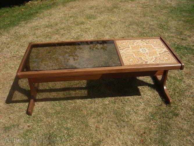 Smoked glass coffee table G Plan