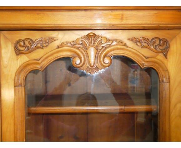 Bureau vitrine Louis Philippe en merisier 19eme