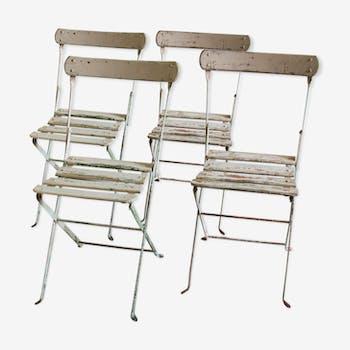 Set de 4 chaises de jardin