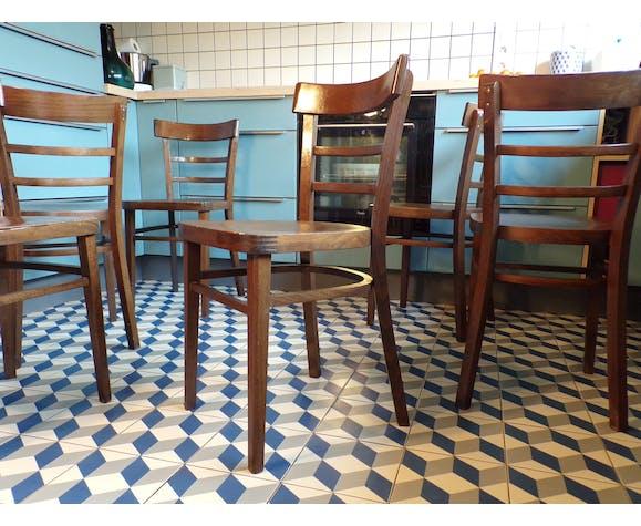 Suite 6 chaises de bistrot