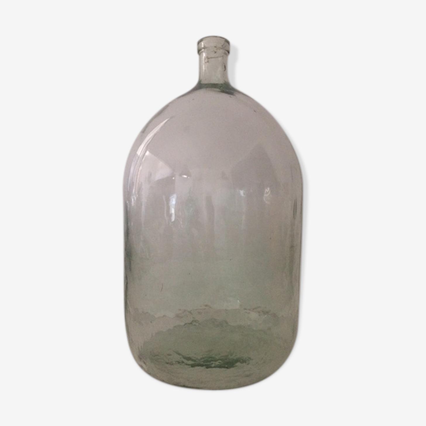 Dame-jeanne cylindrique transparente d'environ 35L