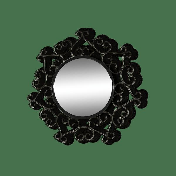 Miroir en fer forg chaty vallauris fer noir vintage for Miroir fer forge noir