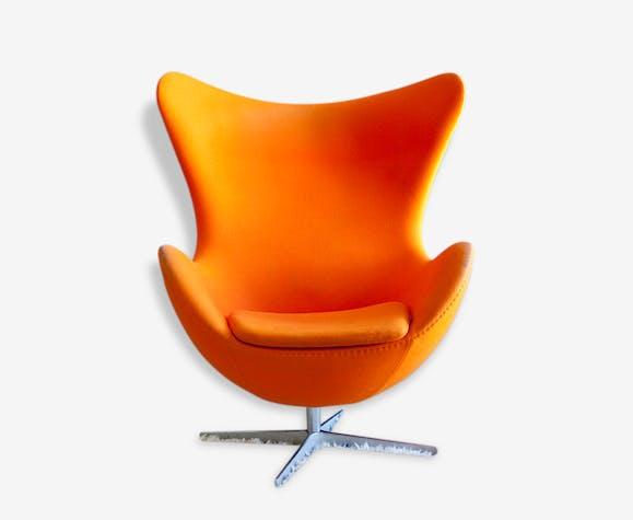 fauteuil egg arne jacobsen by fritz hansen tissu. Black Bedroom Furniture Sets. Home Design Ideas
