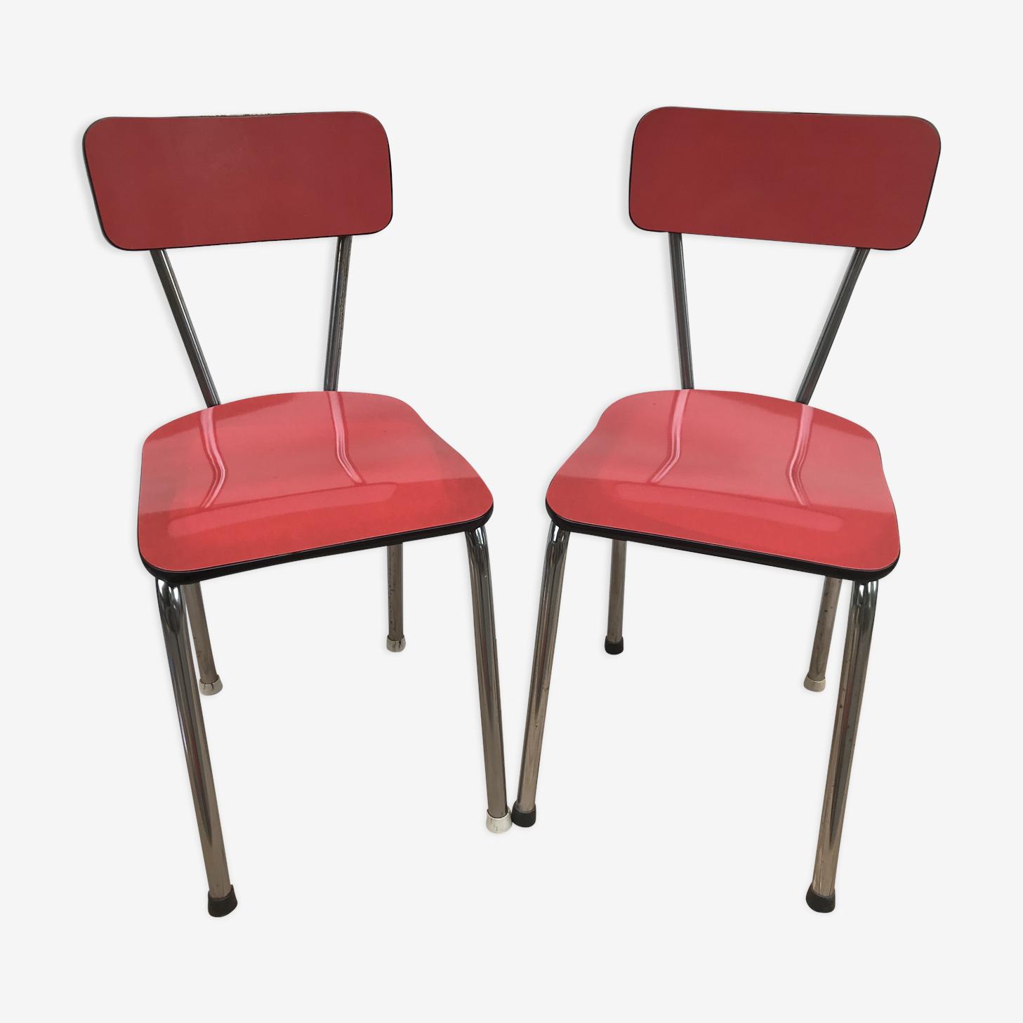 Paire de chaises anciennes cuisine formica