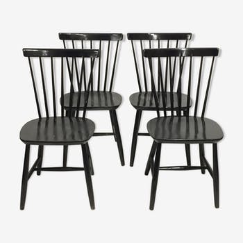Set of 4 Scandinavian chairs