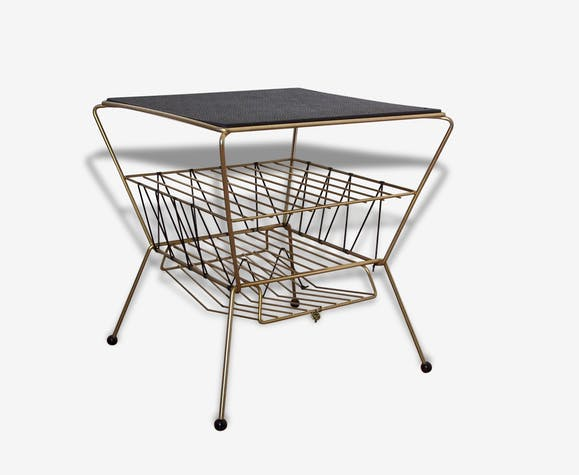 table d 39 appoint table de chevet bout de canap m tal. Black Bedroom Furniture Sets. Home Design Ideas