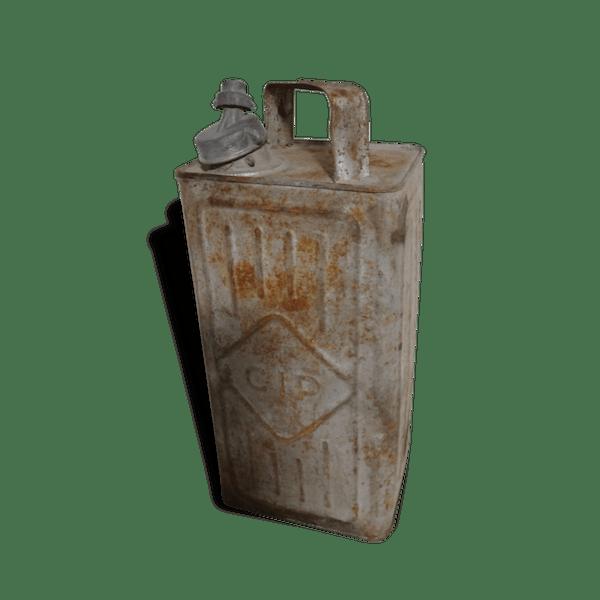 Ancien Bidon Cip Pour Deco Metal Industrial 45232