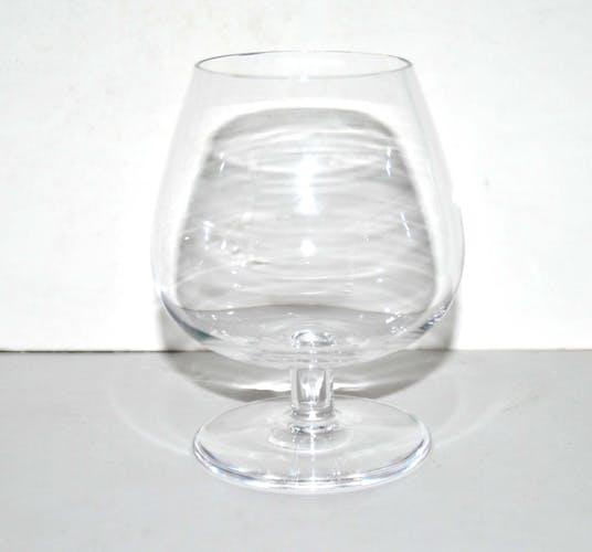 Série de 6 verres ballon à cognac en cristal vintage Saint-Louis