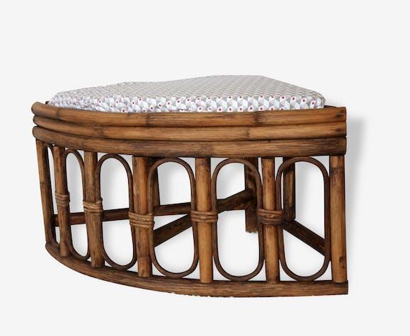tabouret vintage en rotin et bambou chambre d 39 enfant si ge d 39 angle bas r tro 1970 d co r tro. Black Bedroom Furniture Sets. Home Design Ideas