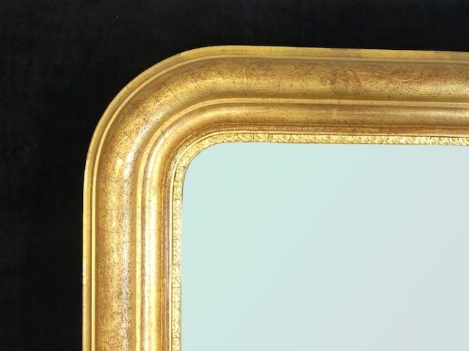 Miroir Louis Philippe doré époque 19eme 75x100cm
