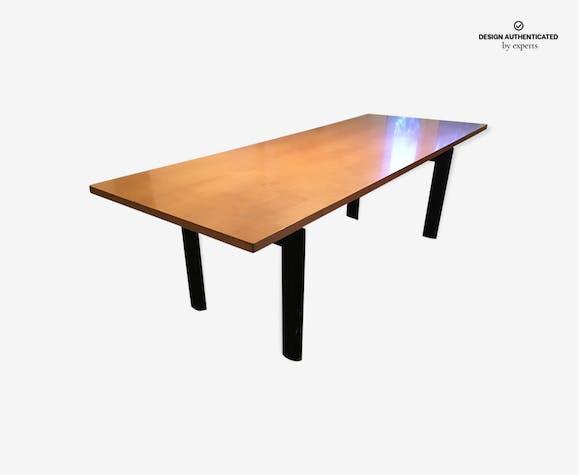 Table Le Corbusier LC6 plateau bois - wood - black - design - 6rUkpES