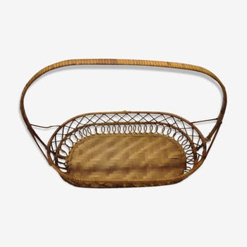 Braided rattan basket