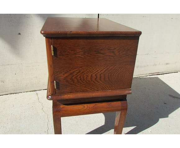 Bedside of the 1950s, oak and Walnut