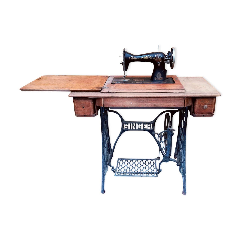 Table A Machine A Coudre bureau machine à coudre singer vintage - wood - wooden