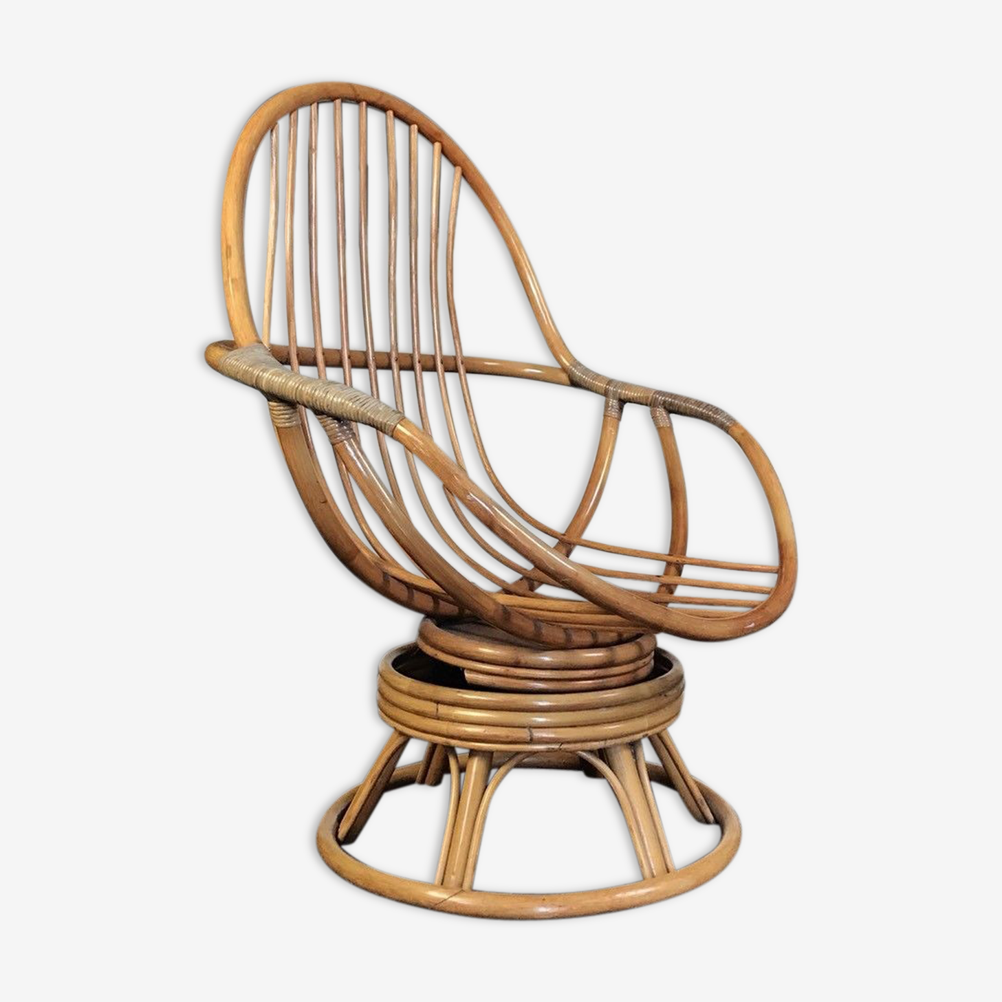 The century Wicker Peacock Chair 70 s