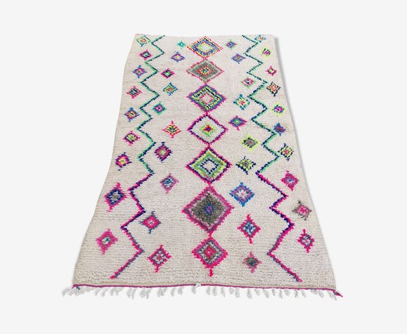 Tapis berbere azilal en laine et coton fait main 260x140 cm