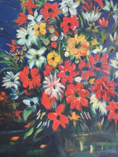 Toile à l'huile bouquet de fleurs