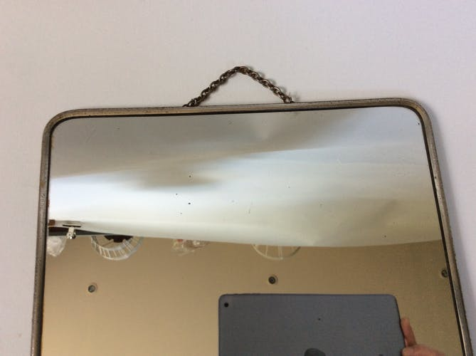 Miroir de barbier vintage 28x38cm