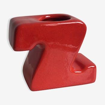 Vase céramique Z, Gabbianelli 1970