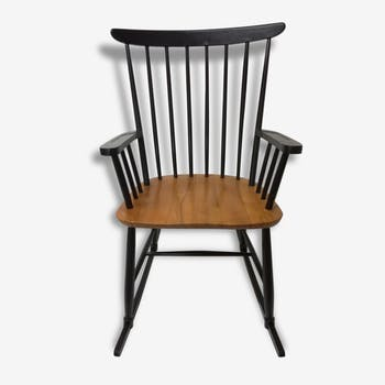 rocking chair bois mat riau bois couleur scandinave kggqdou. Black Bedroom Furniture Sets. Home Design Ideas