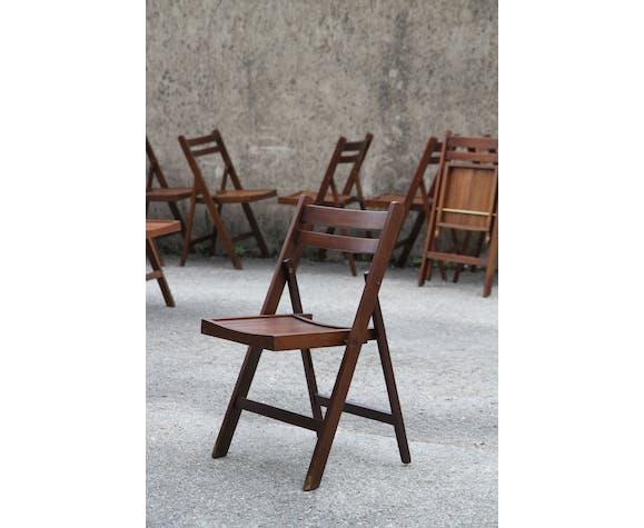 Série de 10 chaises pliantes des années 1950