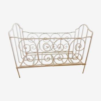 lit d 39 enfant en fer forg ancien fer gris classique 3bzbsxa. Black Bedroom Furniture Sets. Home Design Ideas