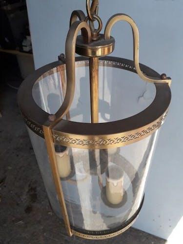 Lanterne lustre en laiton st Louis XVI 76cm