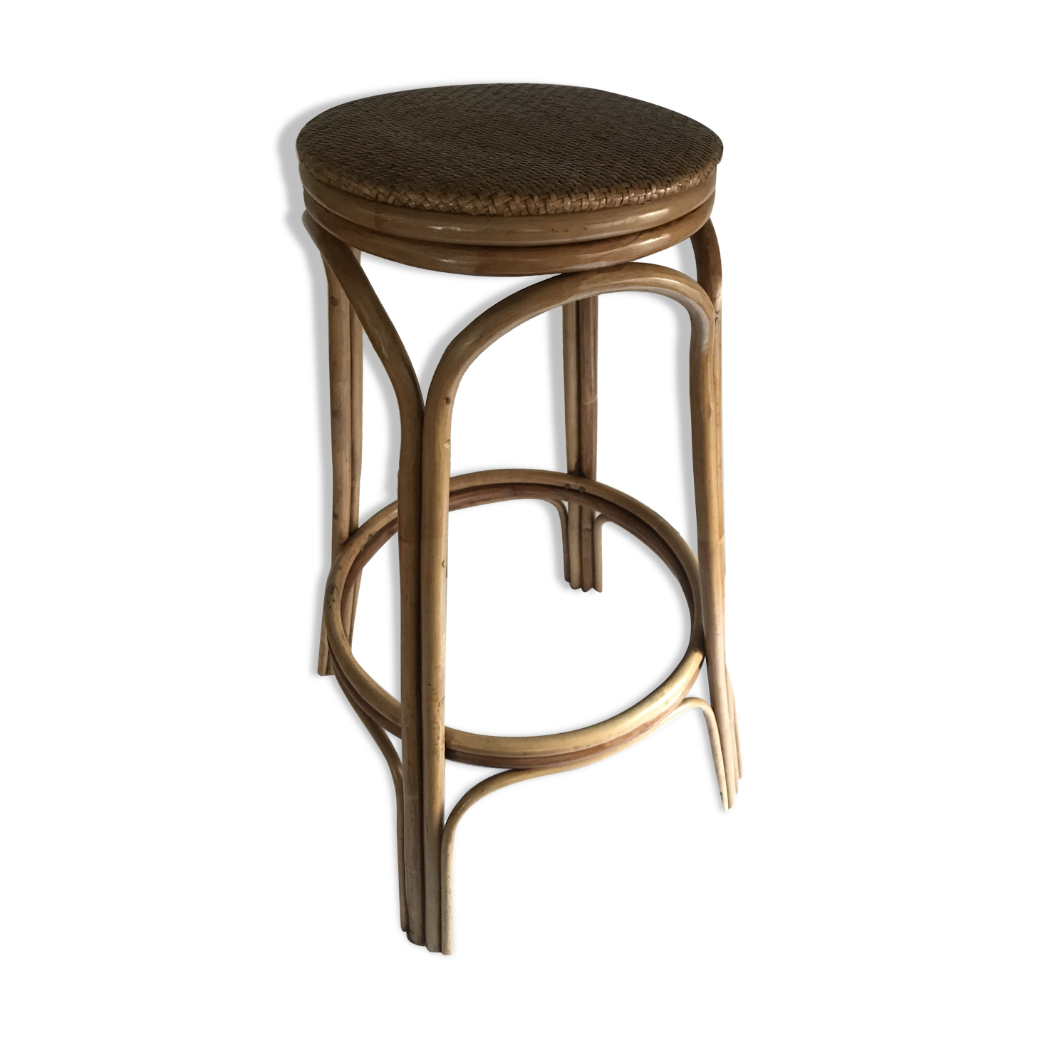 tabouret de bar haut simple petit tabouret de cuisine. Black Bedroom Furniture Sets. Home Design Ideas