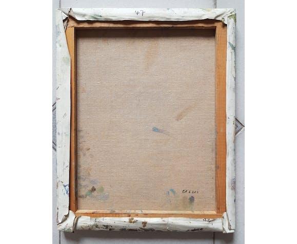 "Peinture de Nagao Usui : ""Bouquet de tournesols"""
