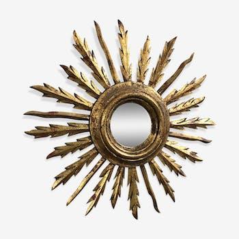 Mirror Sun wood Golden 1950