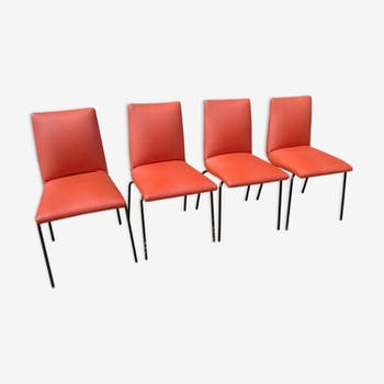 Set of 4 chairs by Pierre Guariche for Meurop 1960
