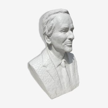 Bust of Jean D'ormesson signed