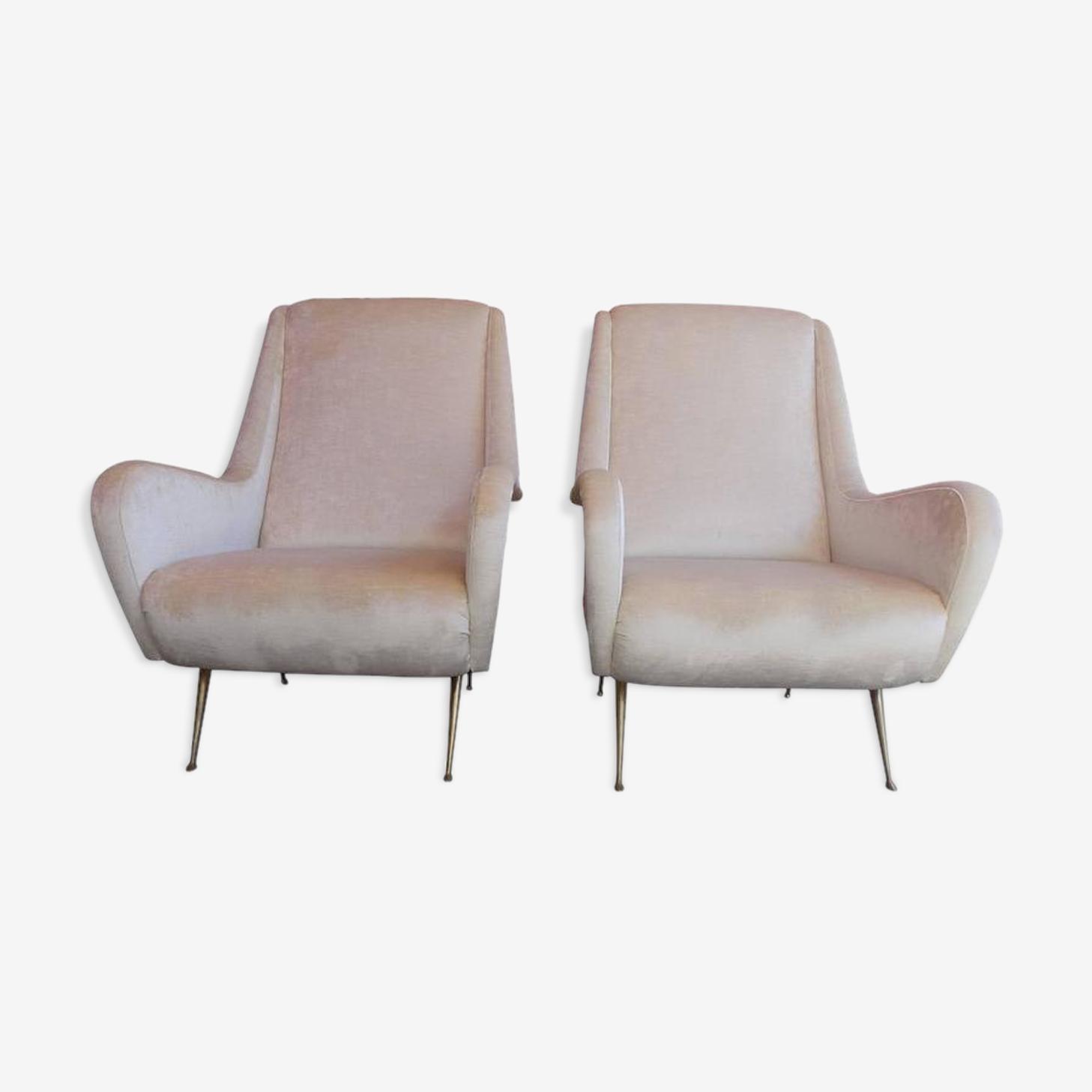 Paire italienne de fauteuils