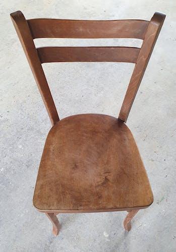 Chaise de bistrot Baumann N°19, chêne moyen, vintage, années 50