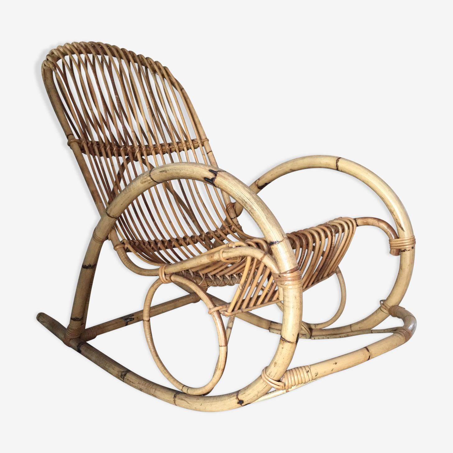 Adult rattan rocking chair