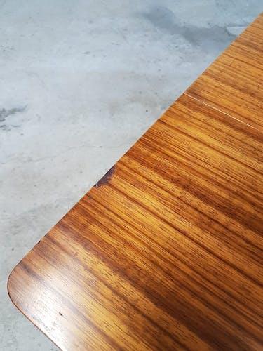 Vtg Mid Century Beautilty Extending Drop Leaf Dining Gate Leg Table Retro
