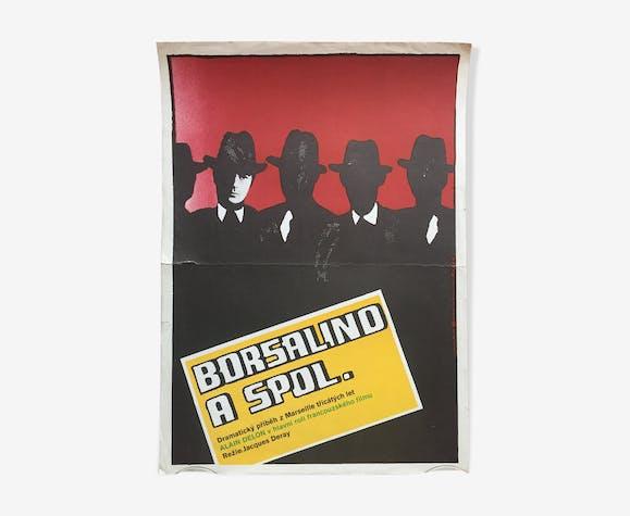 """Affiche cinéma (tchèque) """"Borsalino & Co"""" Alain Delon 30x42cm 1974"""