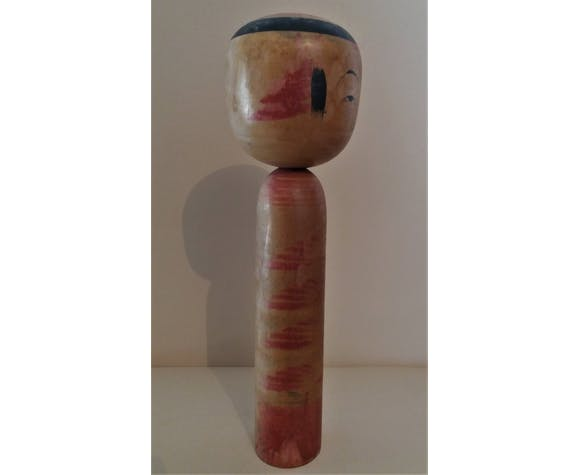 Kokeshi poupée japonaise Yajiro signée 30 cm milieu XXème