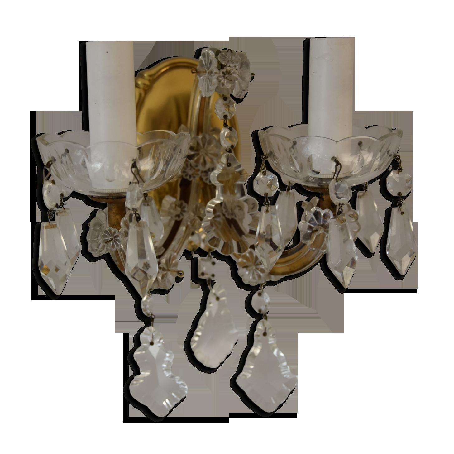 Applique ancienne laiton transparent classique f znq